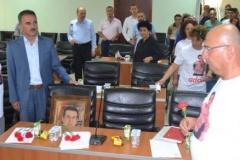 Belediye Meclisi Özgür Aksoy'u andı